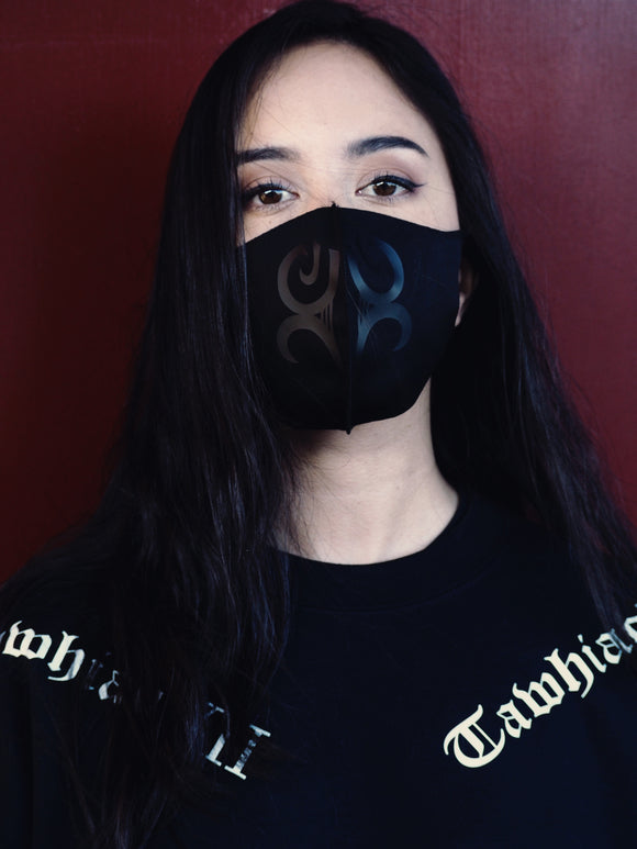 Black on Black Kauae Mask