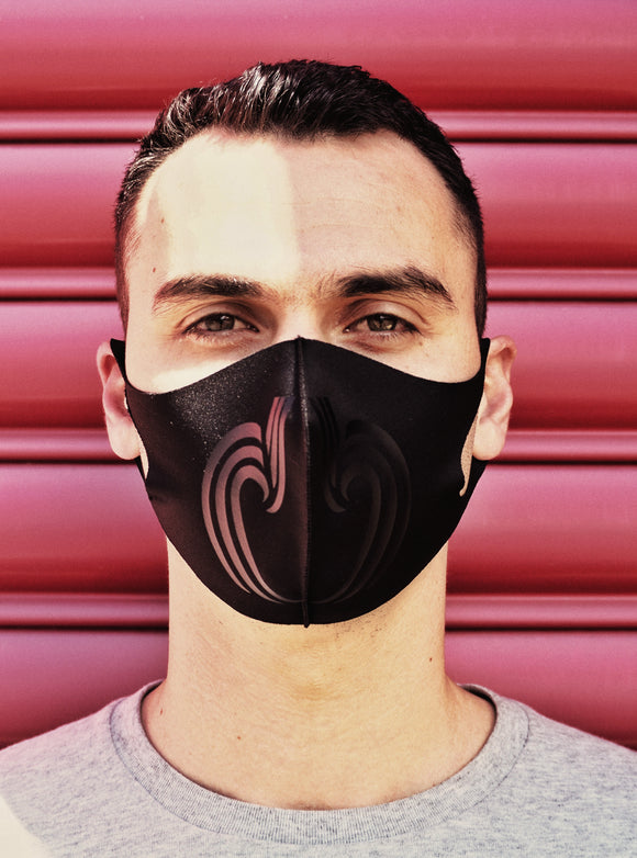 Black on Black Mauri Mask
