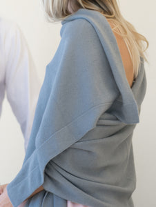 Cashmere knitted shawl wrap