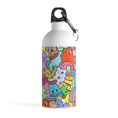 Smiling Monster Doodle Stainless Steel Water Bottle - BnG Wear