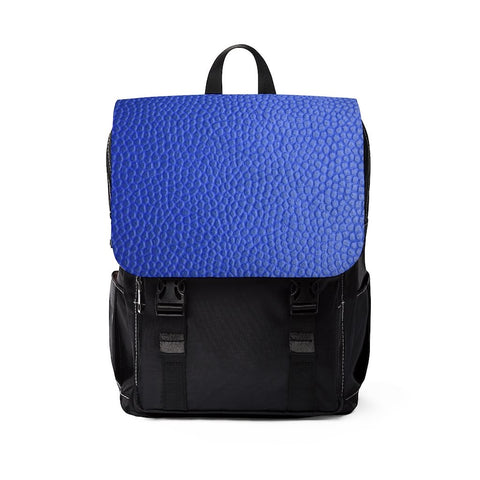 Dark Blue Leather Print Unisex Casual Shoulder Backpack - BnG Wear