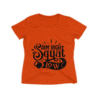 Aim High Squat Low Women's Heather Wicking Tee - BnG Wear