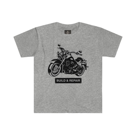 Classic Motorcycle Men's Fitted Short Sleeve Round Neck Tee - BnG Wear
