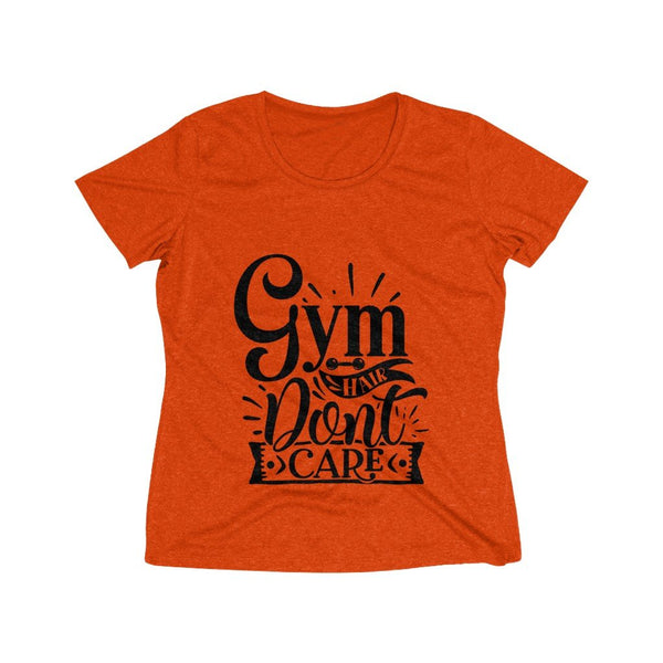 Gym Hair Don't Care Women's Heather Wicking Tee - BnG Wear