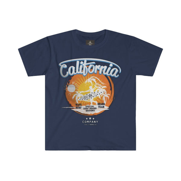 California Men's Fitted Short Sleeve Round Neck Tee - BnG Wear