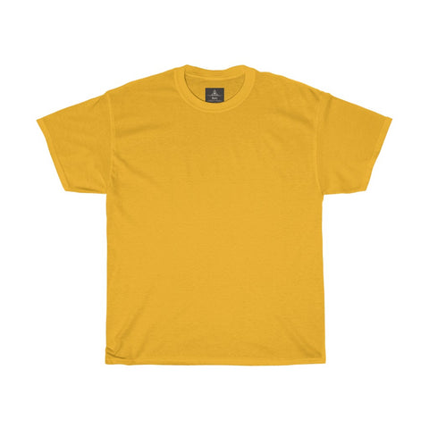 Unisex Round Neck Plain T-Shirt Gold Yellow (Regular Fit)