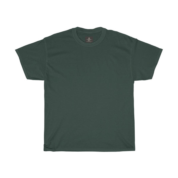 Unisex Round Neck Plain T-Shirt Forest Green (Regular Fit)