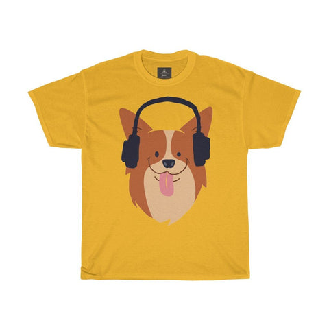 Cute Music Dog Printed Tshirt round neck - BnG Wear
