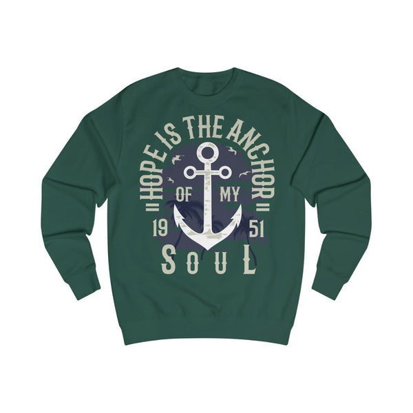Men's Sweatshirt Hope is the Anchor Soul - BnG Wear
