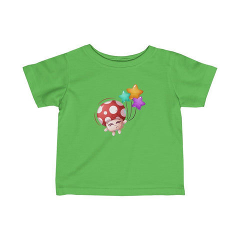 Infant Fine Jersey Printed Tee | Mushroom with star balloon - BnG Wear