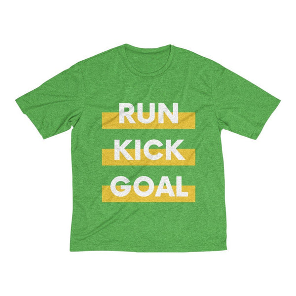 Men's Heather Dri-Fit Tee | Run Kick Goal Football - BnG Wear