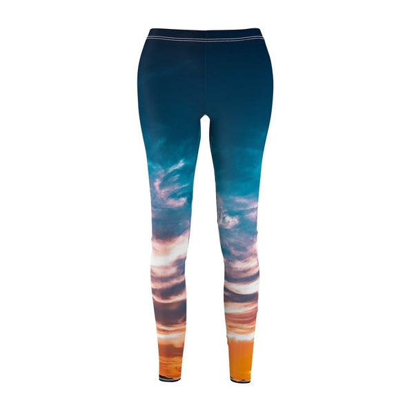 Women's Cut & Sew Casual Leggings | Jeggings | Sky Abstract - BnG Wear