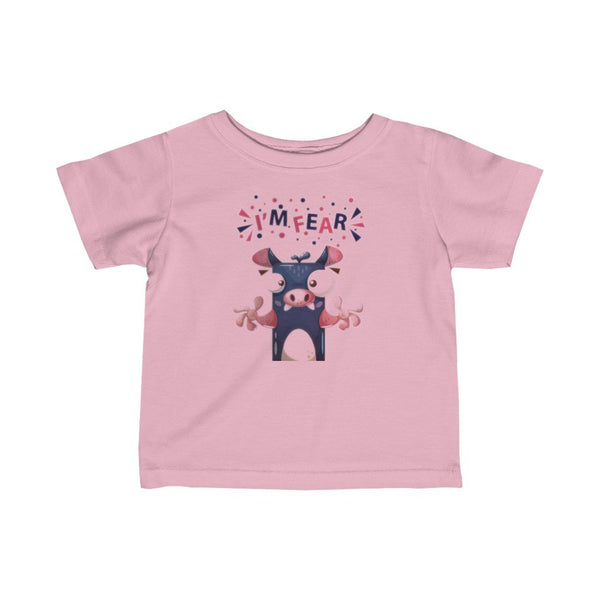 Infant Fine Jersey Printed Tee | I'M fear - BnG Wear