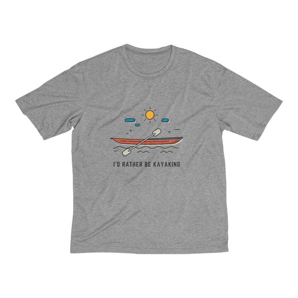 Men's Heather Dri-Fit Tee | I'D Rather Be Kayaking - BnG Wear