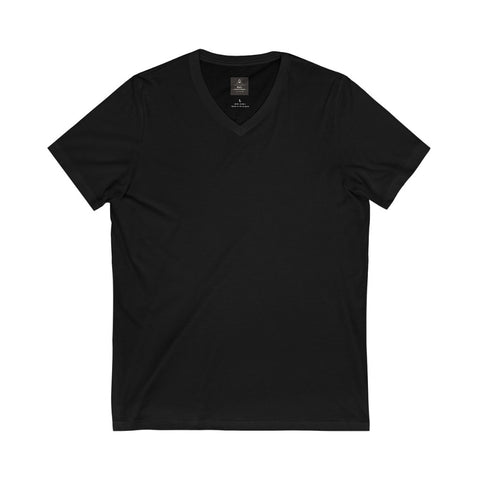 Unisex Jersey Short Sleeve Black Tee (V- Neck)