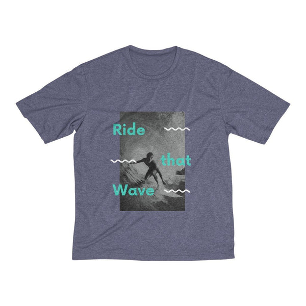 Men's Heather Dri-Fit Tee | Ride That Wave - BnG Wear