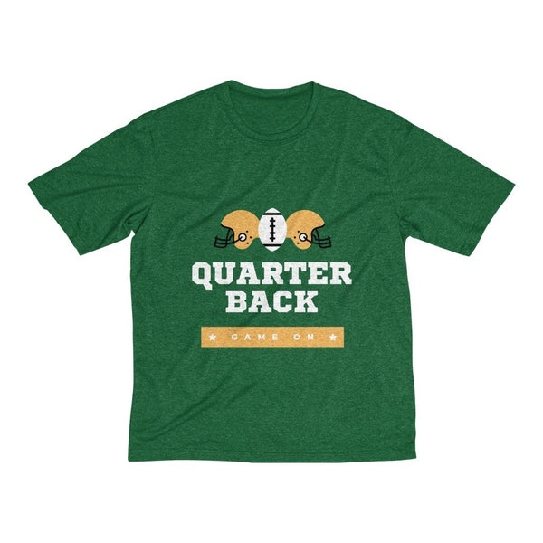 Men's Heather Dri-Fit Tee | Rugby Quarter Back Game On - BnG Wear