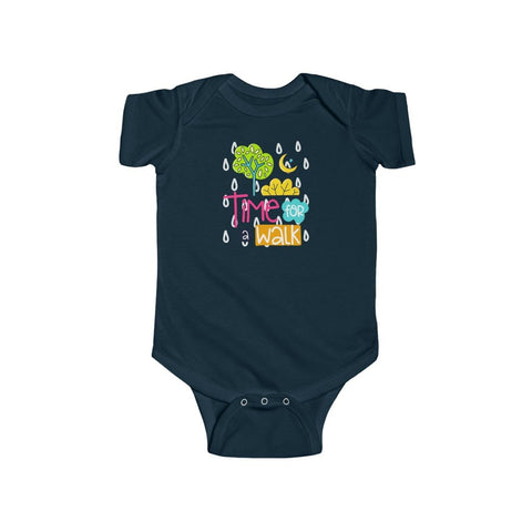 Infant Fine Jersey Bodysuit | Time For Walk - BnG Wear