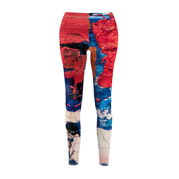 Women's Cut & Sew Casual Leggings | Jeggings | Artist Abstract - BnG Wear