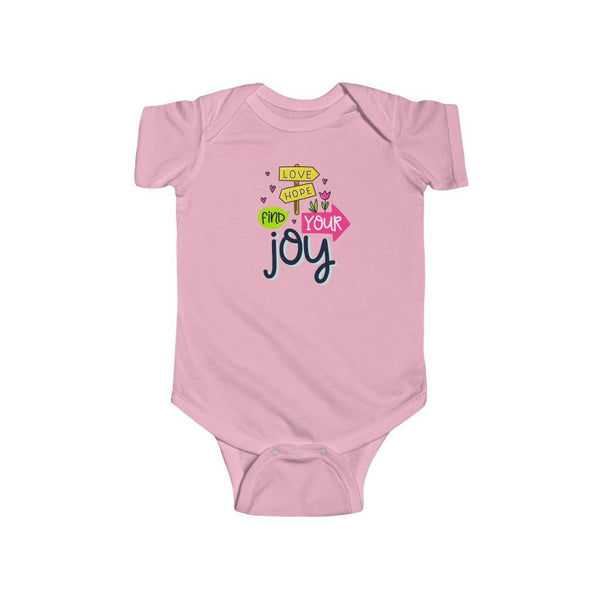 Infant Fine Jersey Bodysuit | Love Hope Find Your Joy - BnG Wear