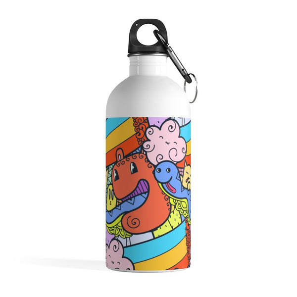Snake Monster Doodle Stainless Steel Water Bottle - BnG Wear