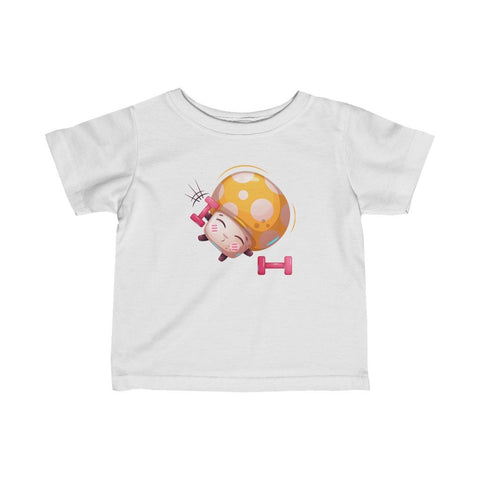 Infant Fine Jersey Printed Tee |  Exercise Mushroom - BnG Wear