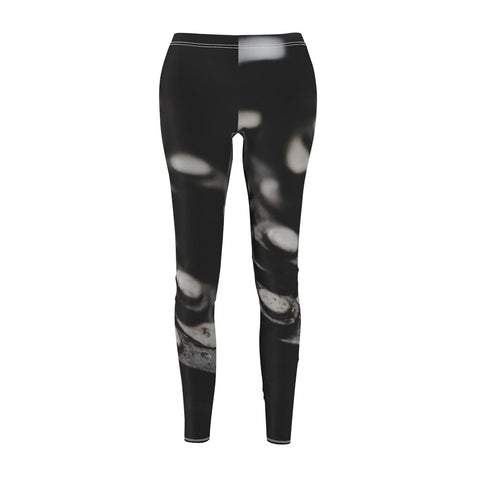 Women's Cut & Sew Casual Leggings | Jeggings | Chain Abstract - BnG Wear