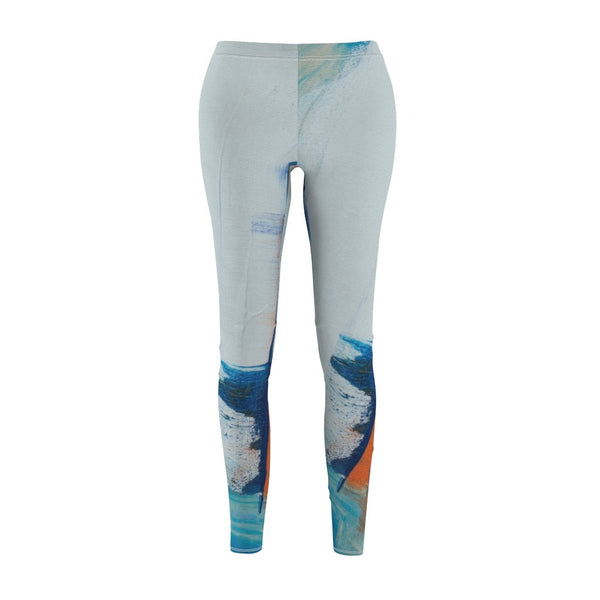Women's Cut & Sew Casual Leggings | blue abstract - BnG Wear