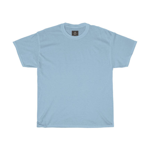 Unisex Round Neck Plain T-Shirt Light Blue (Regular Fit)
