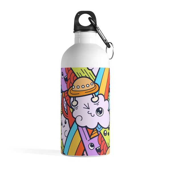 Mix up Alien Cloud Monster Doodle Stainless Steel Water Bottle - BnG Wear