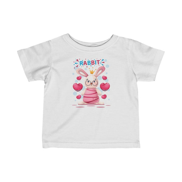 Infant Fine Jersey Printed Tee |  Cute Rabbit - BnG Wear