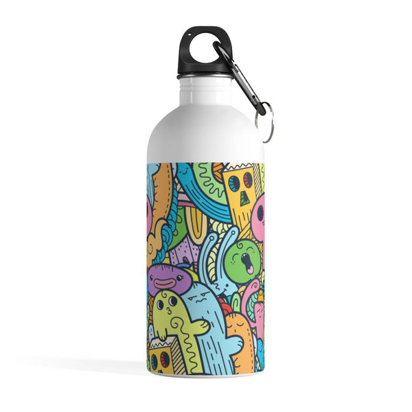 Alien Doodle Stainless Steel Water Bottle - BnG Wear