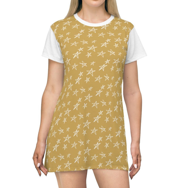Stars Dessert Sand Storm T-Shirt Dress - BnG Wear
