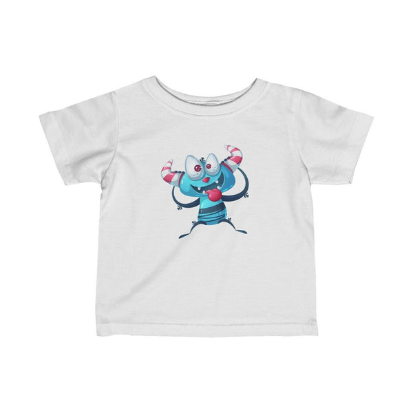 Infant Fine Jersey Printed Tee |  Cute Ice age monster - BnG Wear