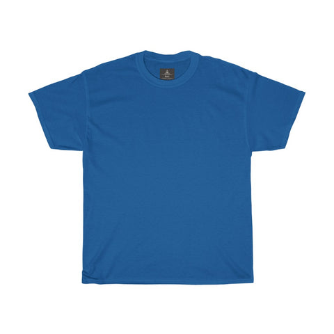 Unisex Round Neck Plain T-Shirt Royal Blue (Regular Fit)