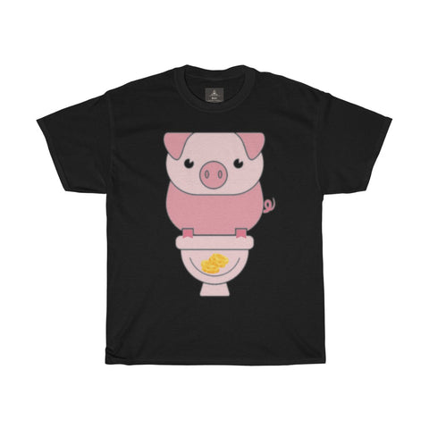 Piggy Bank Women Designous Printed T shirt round neck