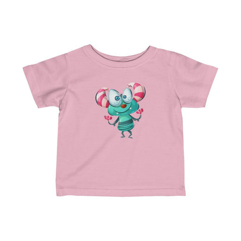 Infant Fine Jersey Printed Tee |  Happy alien Monster - BnG Wear