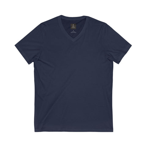 Unisex Jersey Short Sleeve Navy Tee (V- Neck)
