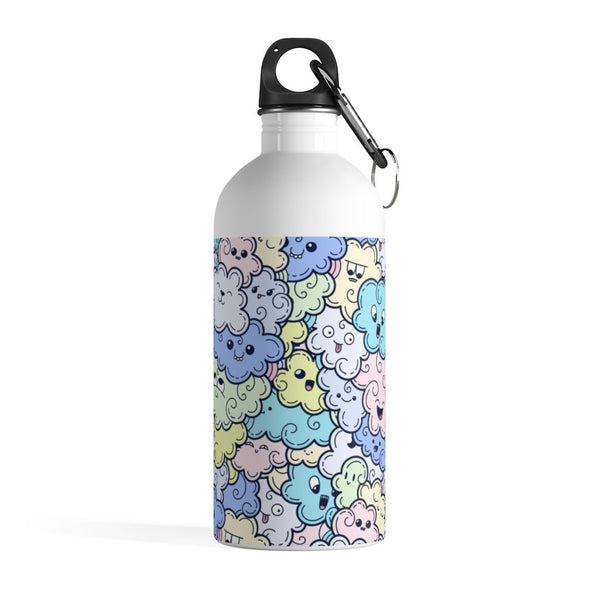 Many Cute Cloud Doodle Stainless Steel Water Bottle - BnG Wear