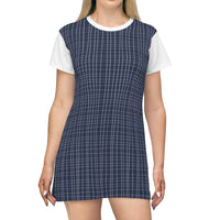 Verticals lines Navy Blue Designous T-Shirt Dress - BnG Wear