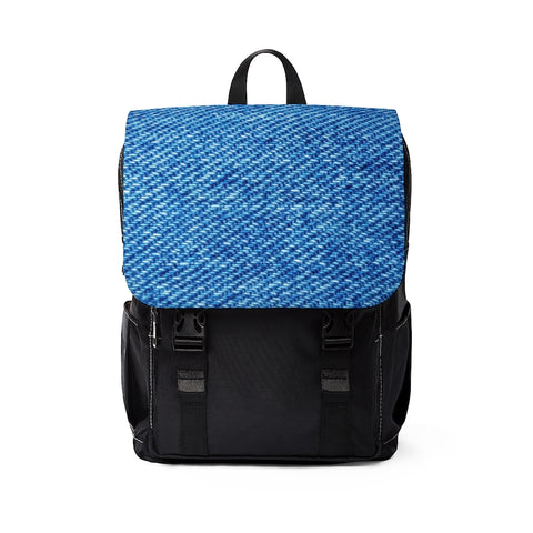 Stylish Denim Print Casual Shoulder Backpack