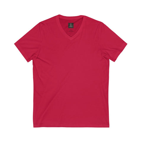 Unisex Jersey Short Sleeve Red Tee (V- Neck)