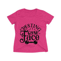 Resting Gym Face Women's Heather Wicking Tee - BnG Wear