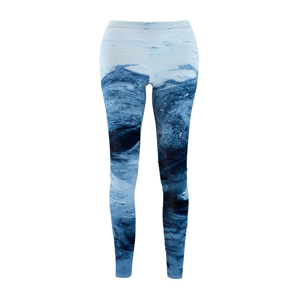 Women's Cut & Sew Casual Leggings | Sea Abstract - BnG Wear