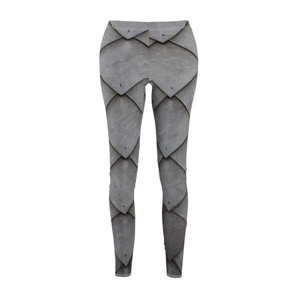 Women's Cut & Sew Casual Leggings | Jeggings | Grey Abstract - BnG Wear