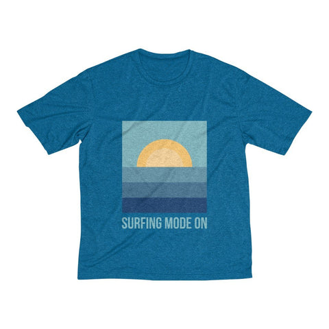 Men's Heather Dri-Fit Tee | Surfing Mode On - BnG Wear