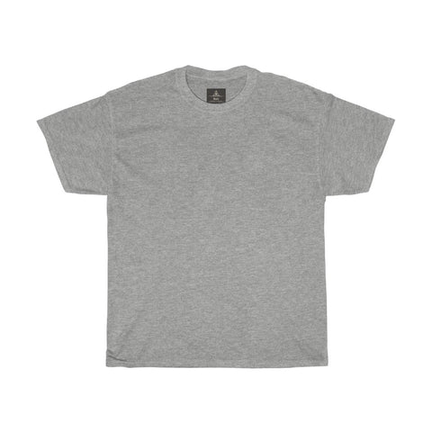 Unisex Round Neck Plain T-Shirt Sport Grey (Regular Fit)