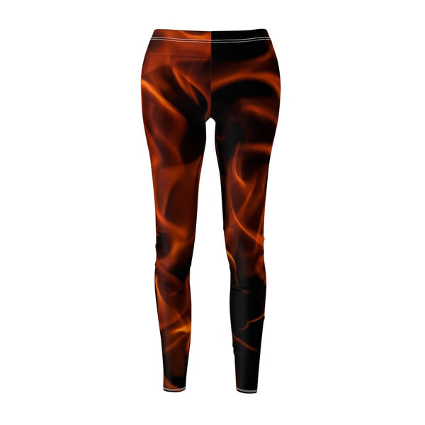 Women's Cut & Sew Casual Leggings | Jeggings | Fire Abstract - BnG Wear