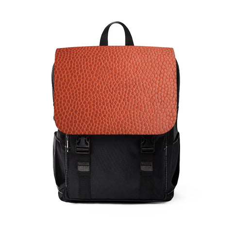 Tan Leather Print Unisex Casual Shoulder Backpack