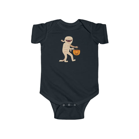 Mummy Pumpkin Halloween Infant Fine Jersey Bodysuit